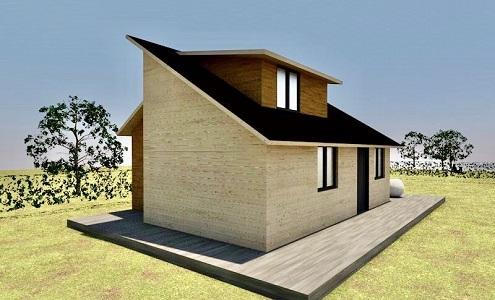Casa COV 40 m2 cu mezanina